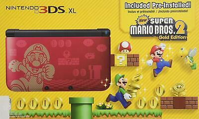 Nintendo 3DS XL Limited Super Mario Bros. 2 Gold Edition 1GB Red Handheld System