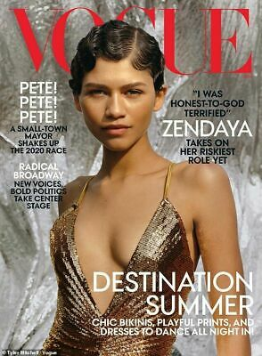 Vogue US USA Magazine June 2019  - Zendaya Cover, Destination Summer (NEW)