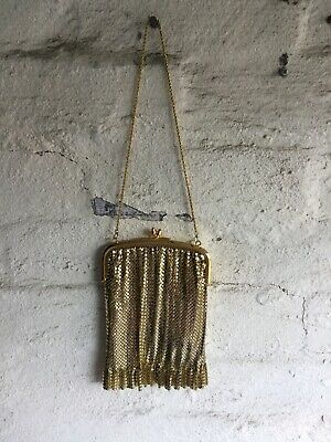 Beautiful Vintage Style  *Glomesh/Style Mesh Gold Mesh Small Bag