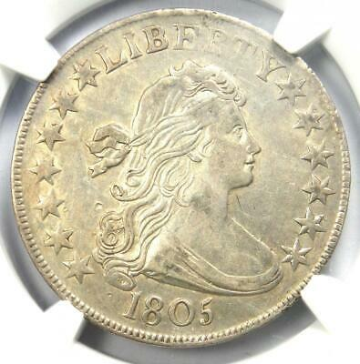 1805 Draped Bust Half Dollar 50C Coin - Certified NGC AU Details - Rare in AU!