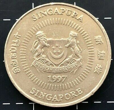 1997 Singapore Fifty Cents 50 Cent Coin - Singapura