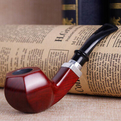1 Pcs Smoking Accessories Tobacco Pipes Classic Red Wood Smoking Pipe Accessary