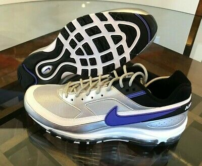 new product 52cfe 0ae18 NIKE AIR MAX 97/BW Metallic Silver Persian Violet Men's Shoes AO2406-002  Skepta