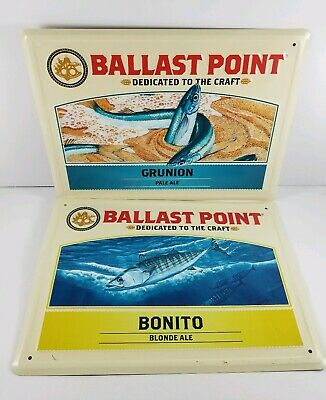 Ballast Point Brewing Company, Bonito & Grunion, Embossed Tin Tacker Beer Sign