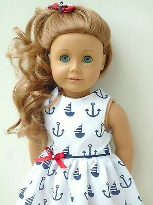 American Girl Our Generation Summer Cotton Sailor Dress 18 Inch Doll Clothes