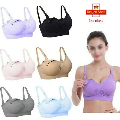 Maternity Pregnant Nursing Bra Breastfeeding Bras Cotton NO Wire Baby Feeding