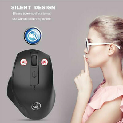 2.4G Noiseless Wireless Vertical Mouse Rechargeable 6 Buttons 2400 DPI Mice UK