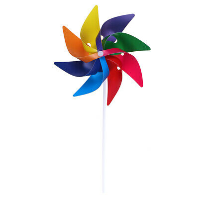 Lovely handmade windmill garden party outdoor wind spinner ornament kids toys ^S