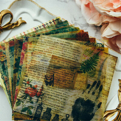 10pcs vintage vellum self-adhesive stickers for scrapbooking planner/card EZ