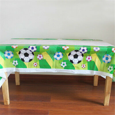Disposable Plastic TableCloth Football Table Cover For Kids Birthday EZ