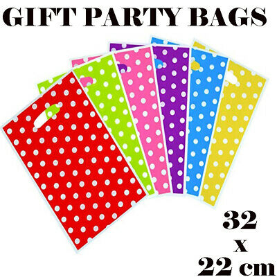 Party Gift Coloured Party Loot Bags Handles Wedding Birthday Christmas Shopping