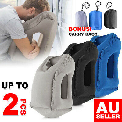 Inflatable Air Travel Pillow Cushion Footrest Hammock Neck flight Support Nap