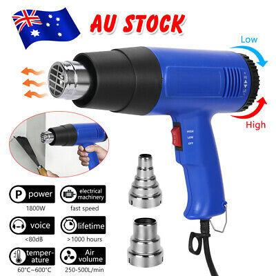 Electric Heat Gun 220V 1800W Hot Air  60-650 Degree Heating Tool Temperature