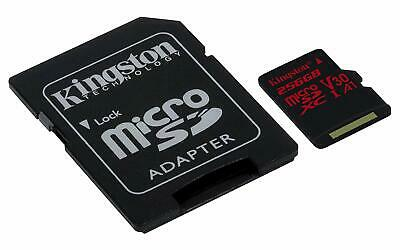 KINGSTON  Canvas React: MicroSD 256GB , 100MB/s read and 70MB/s write
