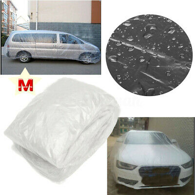Car Rain Cover Clear Plastic Temporary Disposable For Ford VW Buick Mercedes