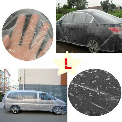 Car Rain Cover Clear Plastic Temporary Disposable 3.8mx6.6m For MPV L Large Size
