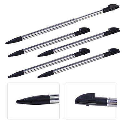 10 Silver Stylus Retractable Touch Screen Pen for New Nintendo 3DS LL XL Console