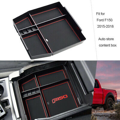 Front Row Center Console Organizer Box Fit For Ford F150 2015 2019 Armrest Tray