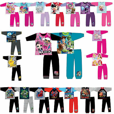 DISNEY Or Novelty Pyjamas Girls Boys Character Kids Toddler Childs Set 1-13Years