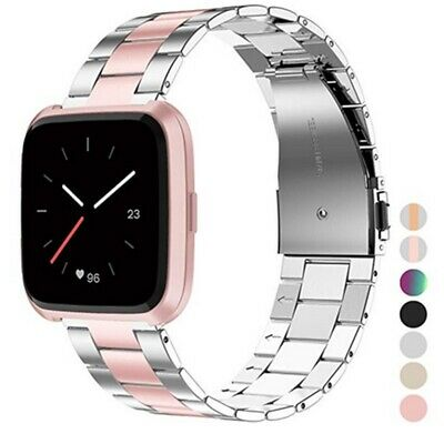 Stainless Steel Watch Strap For Fitbit Versa Lite Band Screwless Bracelet