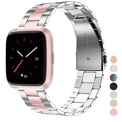 Stainless Steel Watch Strap Wristband For Fitbit Versa /2 /Lite Band Bracelet