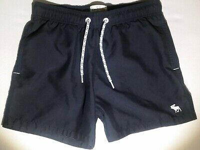 db74aa2f16 Mens Abercrombie & Fitch Board Shorts Swim Trunks Shorter Length Navy Sz  Small