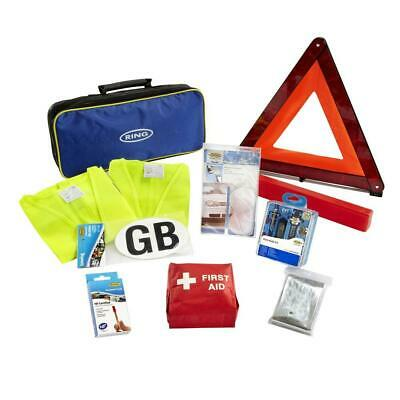 Ring RCT1 10 Piece European Travel Kit, with Warning Triangle, 2 High Vis...