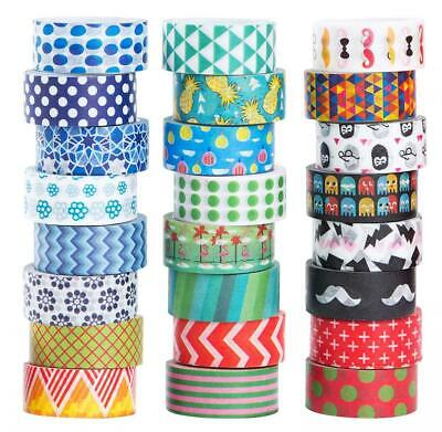 24 Rolls Washi Masking Tape Set,Decorative Craft Collection for DIY and...