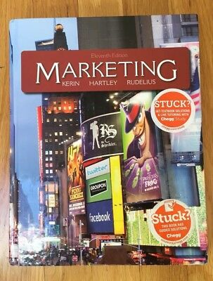 Marketing by Kerin, Hartley, Rudelius Eleventh Edition Hardcover 2012