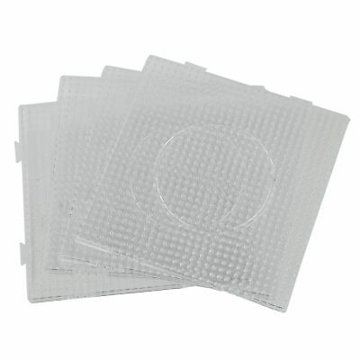 4pcs ABC Clear 145x145mm Square Large Pegboards Board for Hama Fuse Perler  J6M1