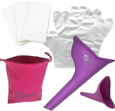 Female Ladies Wee Urine Funnel Lets Women Pee While Outdoors or PURPLE