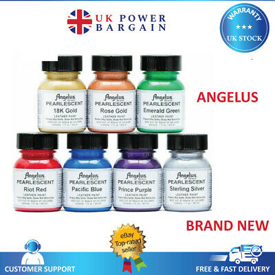 Angelus Pearlescent Acrylic Leather Paint Shoes Sneakers Bags Jackets - 1oz/4oz