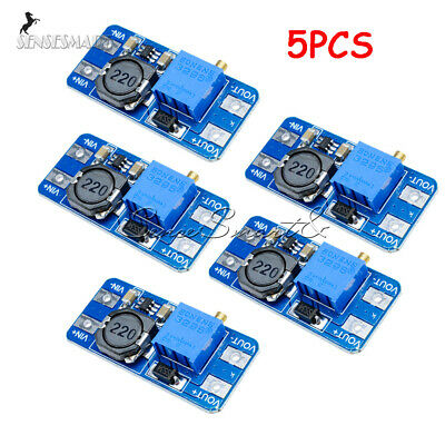 5pcs MT3608 DC 2A Step Up Power Booster Module 2v-24v Boost Converter F Arduino