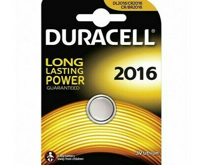 NEW Duracell CR2016 3V Battery Lithium Coin Cell DL2016 BR2016 Longest Expiry