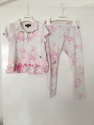 Roberto Cavalli Girls Leggings And Top Set Age 5-6 Years