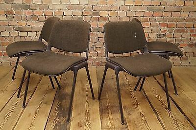 Set 4 x Vintage Stacking Chair 1970s Chair Lounge mid Century Space-Age Comforto