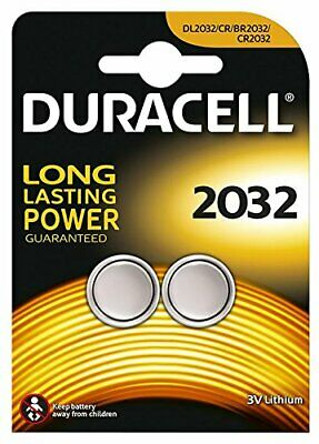 2 X Duracell CR2032 3V Lithium Battery DL/CR 2032 Button Coin Cell Expiry 2027