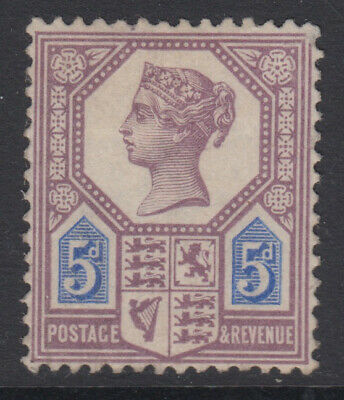 SG 207 5d Dull Purple & Blue (Die I) K35 (1) in average mounted mint condition .