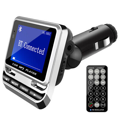 Large Screen LCD Car Bluetooth FM Transmitter Radio MP3 Player Dual USB Charger