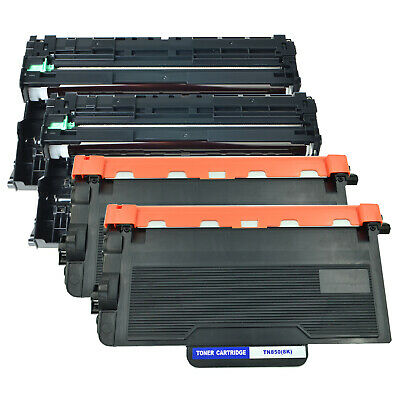 2 Pack TN850 Toner High Yield + 2 PK DR820 Drum for Brother MFC 5700 5850 5900