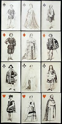 1864 First photographic playing cards Spielkarten cartes a jouer Parisian actors