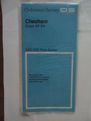 "Ordnance Survey 2.5"" Map SP90 Chesham 1963 Berkhamsted Champneys Cholesbury"