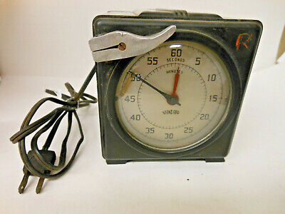 Standard Electric Time Co. 2 Vintage Precision Timer Stopwatch Clocks (1 pair)