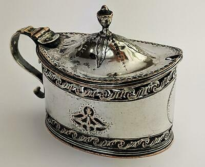 GEORGE III OLD SHEFFIELD PLATE PIERCED MUSTARD POT c1780