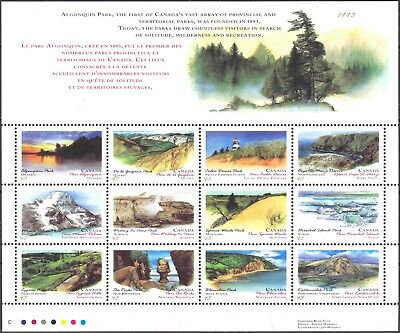 1993 Canada #1483a Mint Never Hinged Sheet of 12 Canada Day Provincial Parks