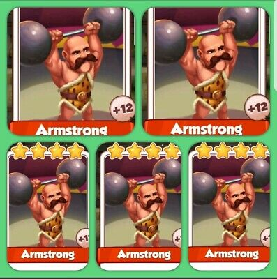 Coin Master Cards 5×Armstrong's  ( Fastest Delivery)