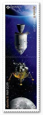 2019 Canada 📭 🚀APOLLO 11 🚀50 Years MOON🌘 LANDING - PAIR of MNH Stamps 📬