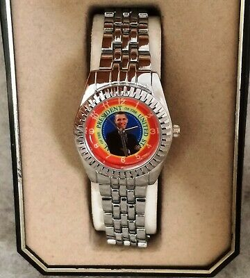 *nEw oLD sTOCK* SUPERB COLLECTIBLE RARE Womens PRESIDENT BARACK OBAMA DIAL Watch
