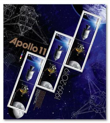 2019 Canada 📭 🚀APOLLO 11 PANE of 6 MNH Stamps 🚀50 Years MOON🌘 LANDING 🌘 📬