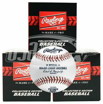 (3) 2019 All Star Futures Rawlings Official MLB Game Baseball Cleveland - Boxed